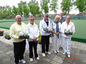 De winnaars van de Triptych mixed pairs 2019